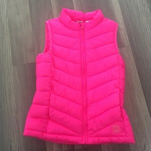 Girls GAP Neon Pink Puffer Vest